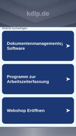 Vorschau der mobilen Webseite www.kdlp.de, Dipl.-Betriebswirt (FH) Laszlo Paulheim