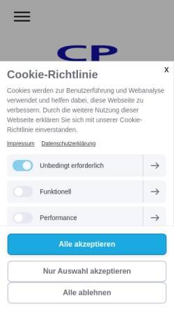 Vorschau der mobilen Webseite www.cpgmbh.com, CP Organisationsberatung GmbH