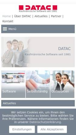 Vorschau der mobilen Webseite www.datac.de, Datac AG