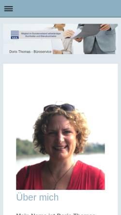 Vorschau der mobilen Webseite www.doristhomas.de, Doris Thomas - Büro- und EDV-Service