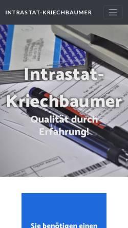Vorschau der mobilen Webseite www.intrastat-meldungen.de, Intrastat-Meldungen - Susanne Kriechbaumer