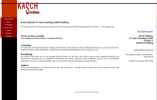 Vorschau von www.kasch-solutions.de, Kasch GmbH
