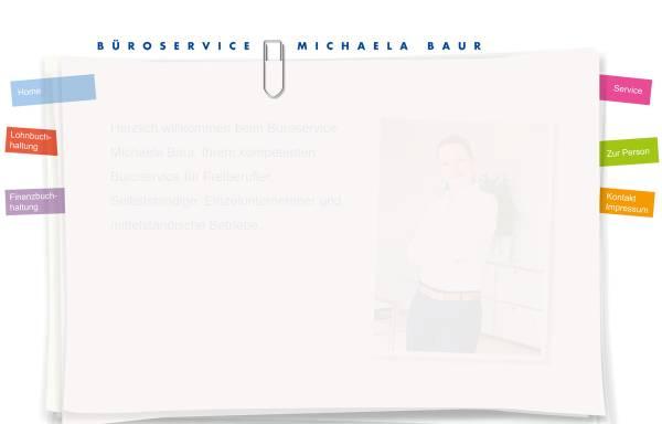 Vorschau von www.bueroservice-baur.de, Büroservice Michaela Baur