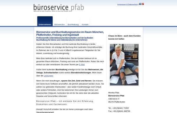 Vorschau von www.bueroservice-pfab.de, Buchhaltungsservice Pfab