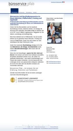 Vorschau der mobilen Webseite www.bueroservice-pfab.de, Buchhaltungsservice Pfab
