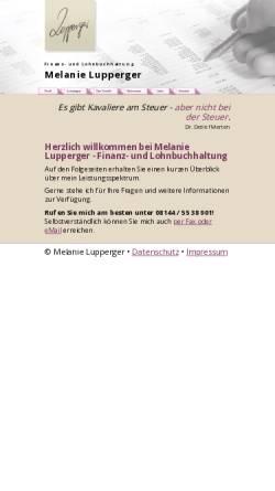 Vorschau der mobilen Webseite www.lupperger-bbh.de, Buchhaltungsservice Melanie Lupperger