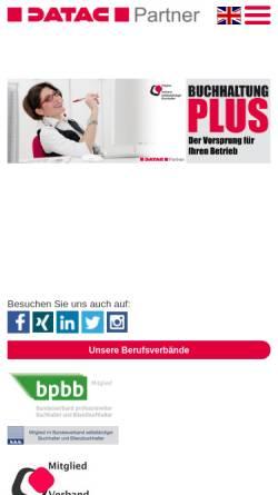 Vorschau der mobilen Webseite www.buchhaltung-plus.de, Buchhaltung PLUS UG haftungsbeschränkt