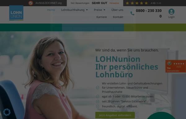 Vorschau von www.lohnunion.de, Lohnunion GmbH
