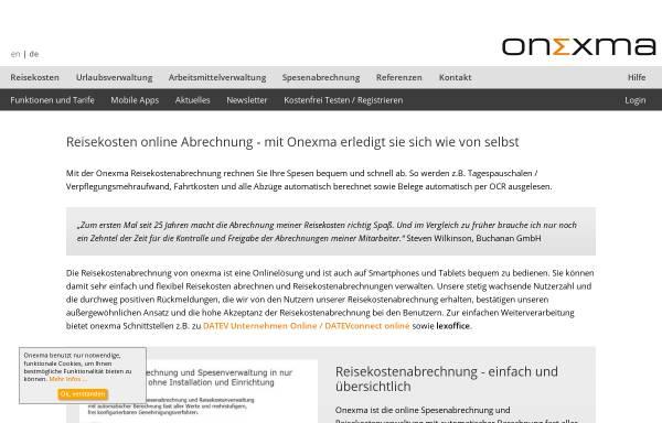 Vorschau von www.onexma.de, Onexma Ltd. & Co. KG