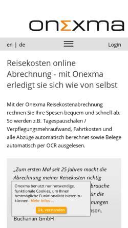 Vorschau der mobilen Webseite www.onexma.de, Onexma Ltd. & Co. KG
