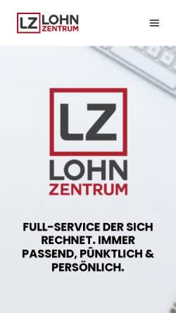 Vorschau der mobilen Webseite www.lohnzentrum.de, Lohnzentrum (LZ) GmbH & Co. KG