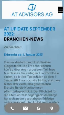 Vorschau der mobilen Webseite www.andrey.ch, Andrey-Treuhand AG