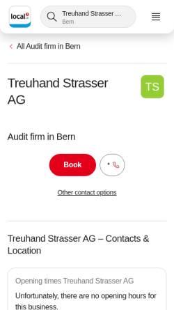 Vorschau der mobilen Webseite yellow.local.ch, Treuhand Strasser AG