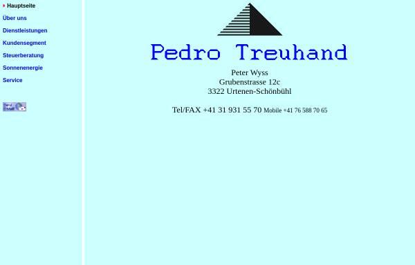 Vorschau von www.pedrotreuhand.ch, Pedro Treuhand, Inh. Peter Wyss