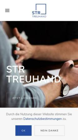 Vorschau der mobilen Webseite www.str-treuhand.ch, STR Treuhand AG