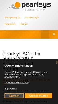 Vorschau der mobilen Webseite www.pearlsys.ch, Pearlsys AG