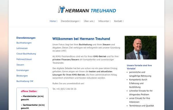 Vorschau von hermanntreuhand.ch, Hermann Treuhand