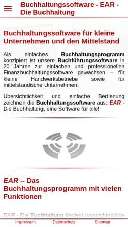 Vorschau der mobilen Webseite www.ear-buchhaltung.de, EAR, Michael Hertlein