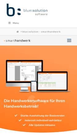 Vorschau der mobilen Webseite www.meisterbuero.de, Meisterbüro von blue:solution software GmbH