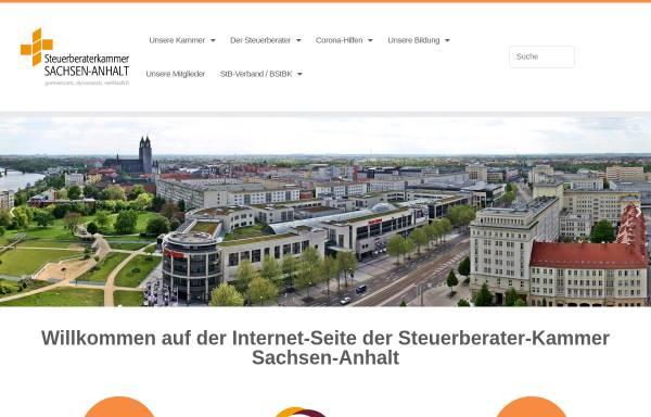 Vorschau von www.stbk-sachsen-anhalt.de, Steuerberaterkammer Sachsen-Anhalt K.d.ö.R.