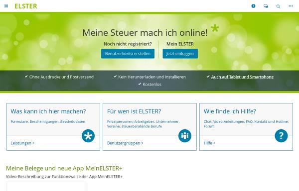 Vorschau von www.elster.de, ELSTER: Elektronische Steuererklärung