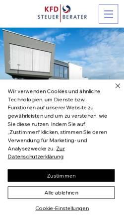 Vorschau der mobilen Webseite www.kfd-steuerberater.de, KFD Kühn, Federer & Disch