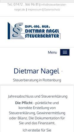 Vorschau der mobilen Webseite www.steuerkanzlei-nagel.de, Steuerberater Dietmar Nagel