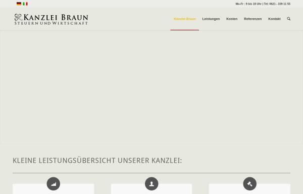 Vorschau von www.steuerberatung-braun.de, Heinrich Braun - Steuerberater