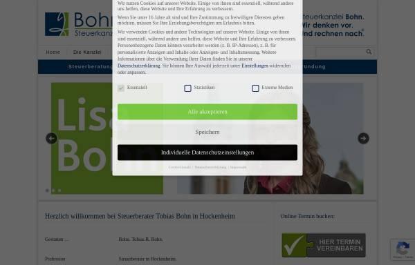 Vorschau von www.kanzlei-bohn.de, Tobias Bohn - Steuerberater