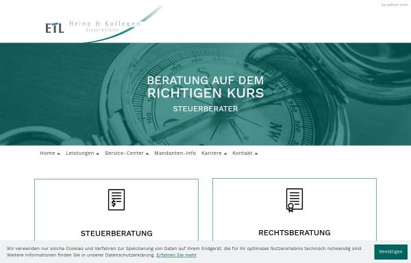 Vorschau von www.stb-heine.de, Heine und Kollegen Steuerberater