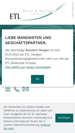 Vorschau der mobilen Webseite www.stb-heine.de, Heine und Kollegen Steuerberater