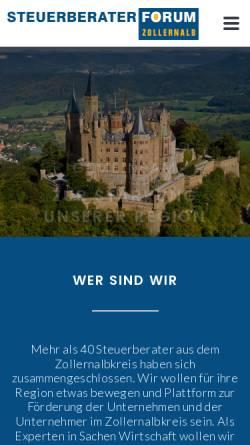 Vorschau der mobilen Webseite www.eppler-wieland.de, Eppler und Wieland PartG mbB
