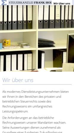 Vorschau der mobilen Webseite www.holler-schwabeland.de, Steuerkanzlei Frank Holler