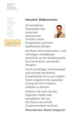 Vorschau der mobilen Webseite www.stb-deppisch.de, Deppisch Martin