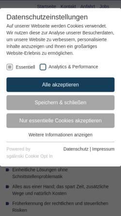 Vorschau der mobilen Webseite www.frey-steuerberater.de, Thomas Frey Steuerberater
