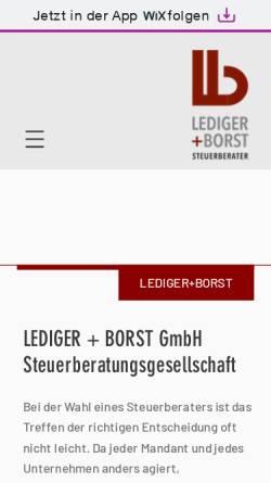 Vorschau der mobilen Webseite www.lediger-steuer.de, Lediger & Kollegen GmbH Steuerberatungsgesellschaft