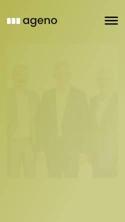 Vorschau der mobilen Webseite ageno.info, Ageno Dr. Amann Gerauer Nöbauer Partnerschaft