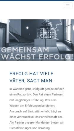 Vorschau der mobilen Webseite www.kwwm.de, Kleppeck, Welbers, Winkel & Masuch - Steuerberater in Societät