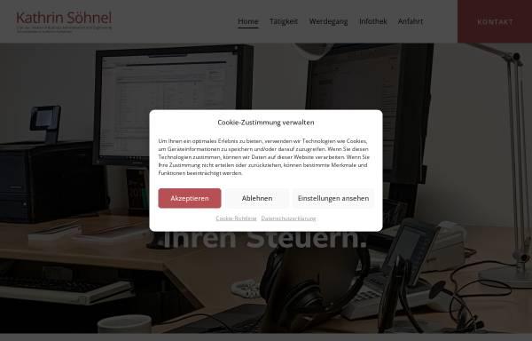 Vorschau von www.stb-soehnel.de, Steuerberaterin Kathrin Söhnel