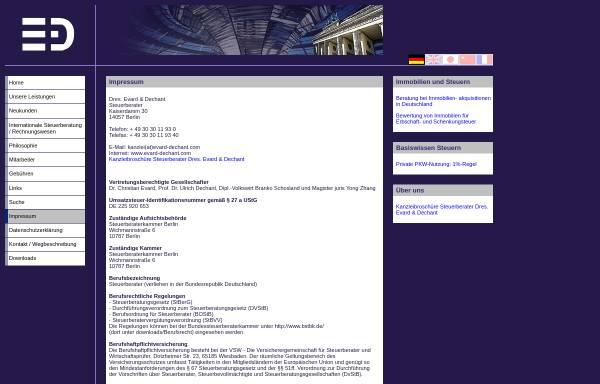 Vorschau von evarddechant.de, Steuerberater Dres. Evard & Dechant