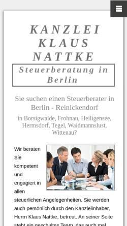 Vorschau der mobilen Webseite www.contrast-online.de, Steuberatungsgesellschaft Contrast
