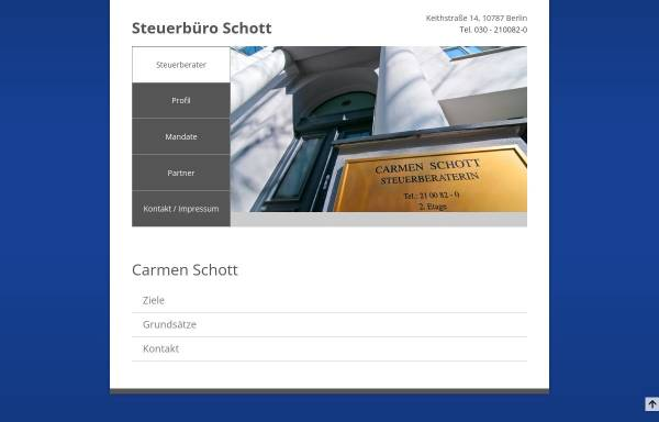 Vorschau von www.stb-schott.de, Steuerberater Carmen Schott . Alexander Schott