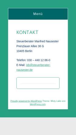 Vorschau der mobilen Webseite www.nausester.de, Manfred Nausester, Steuerberater