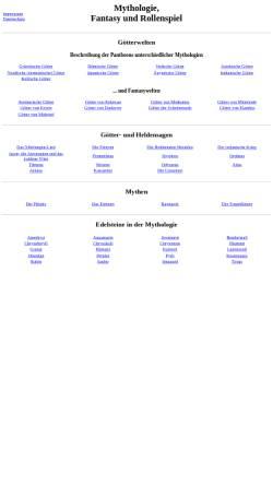 Vorschau der mobilen Webseite www.fantasy-und-rollenspiel.de, Mythologie, Fantasy und Rollenspiel