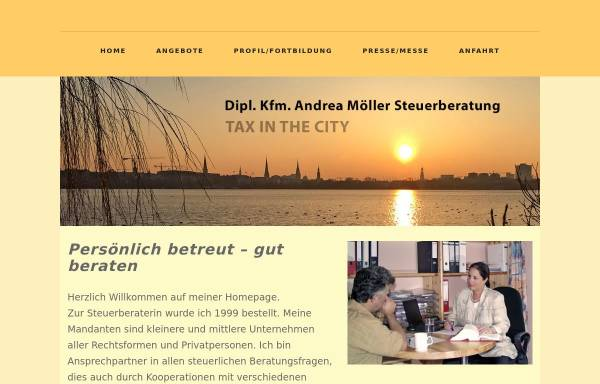 Vorschau von www.andrea-moeller-stb-hamburg.de, Dipl.-Kfm. Andrea Möller