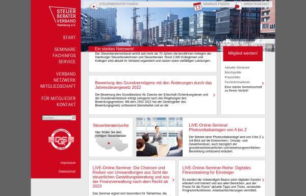 Vorschau von www.steuerberaterverband-hamburg.de, Steuerberaterverband Hamburg e.V.