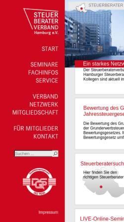 Vorschau der mobilen Webseite www.steuerberaterverband-hamburg.de, Steuerberaterverband Hamburg e.V.