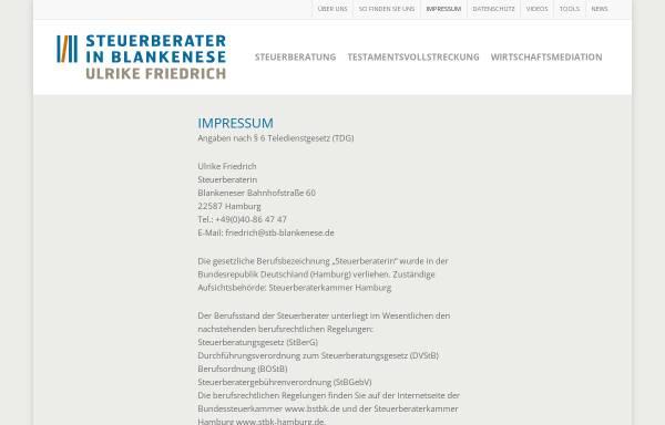 Vorschau von steuerberater-in-blankenese.de, Steuerberaterbüro Rolf Heitgres und Ulrike Friedrich