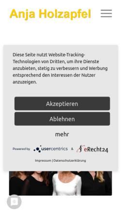 Vorschau der mobilen Webseite www.holzapfel-steuerberatung.de, Anja Holzapfel Steuerberaterin