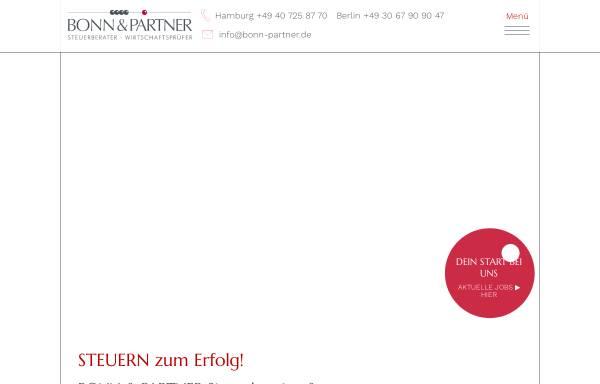 Vorschau von www.bonn-partner.de, Bonn & Partner Steuerberater - Wirtschaftsprüfer Partnerschaftsgesellschaft mbB